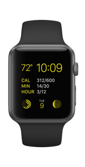 Apple watch sport spacegray front