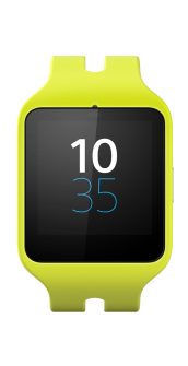 Sony Smartwatch 3 yellow front