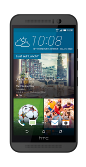 HTC One M9 Grey front
