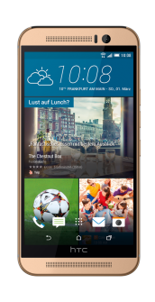HTC One M9 gold front