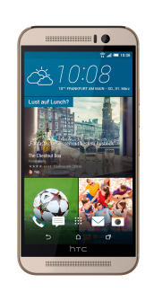 HTC One M9 silver front