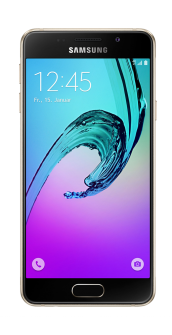 Samsung Galaxy A3 2016 gold front