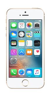 iPhone SE gold front