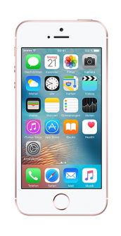 iPhone SE rosegold front