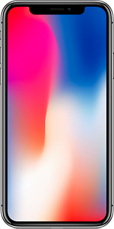 Apple iPhone X spacegray front