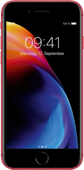 Apple iPhone 8 red front