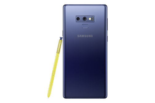 Samsung Note 9 blue back
