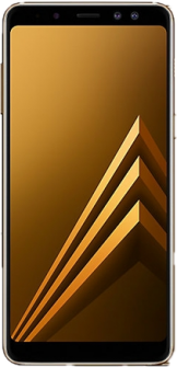 Samsung Galaxy A8 gold front