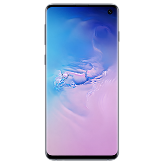 Samsung Galaxy S10 blue front