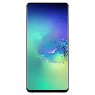 Samsung Galaxy S10 green front
