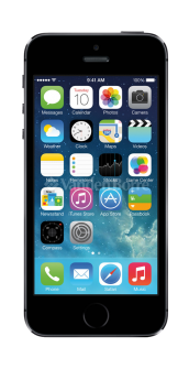 iPhone 5s space gray front